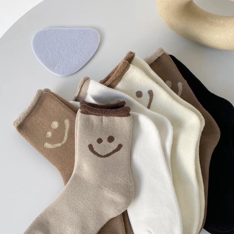 微笑smile中筒襪組(6雙一組)