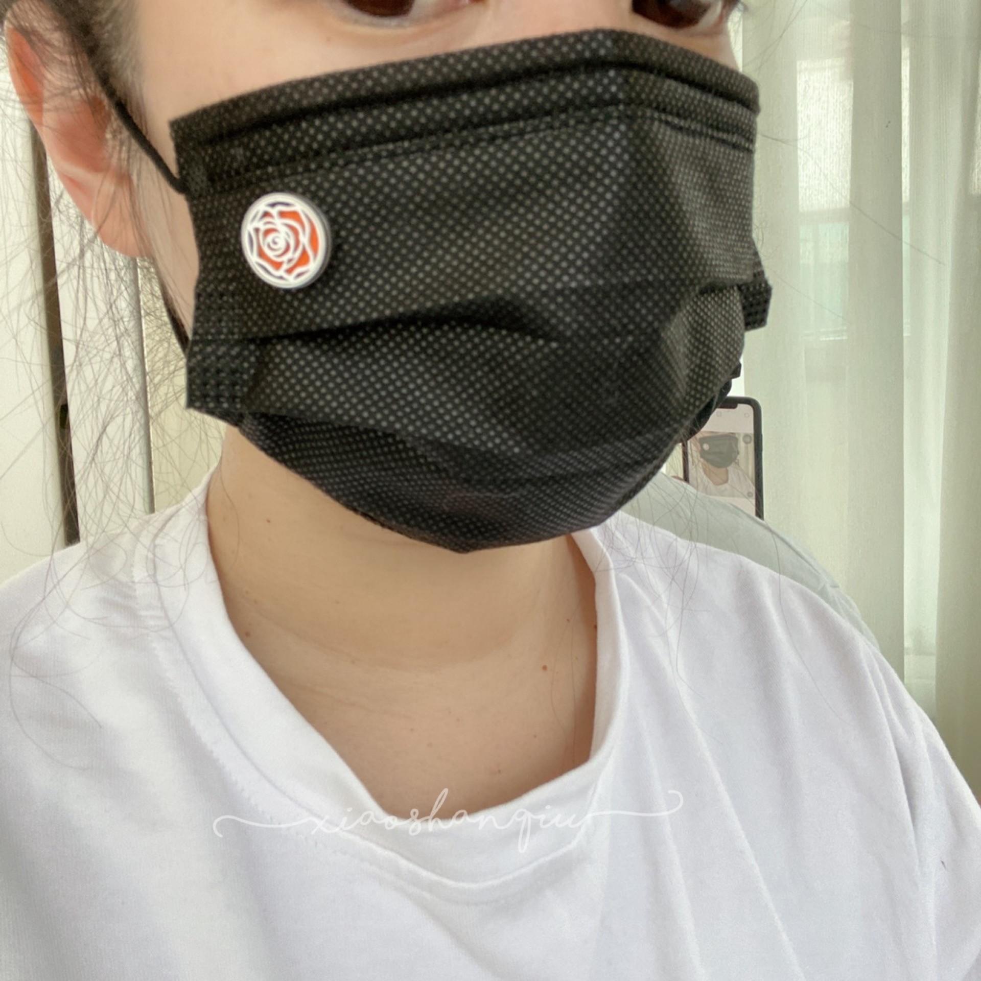 造型鈦鋼口罩薰香扣組「開幕限定買1組再送1組補充棉片」
