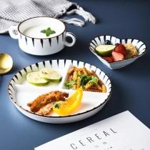 日式創意簡約分格減脂211定量餐盤組