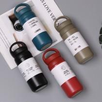 日系簡約風格304不銹鋼手提保溫瓶350ml