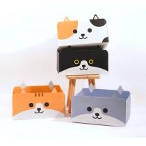 原創貓咪造型瓦楞紙貓抓板盒