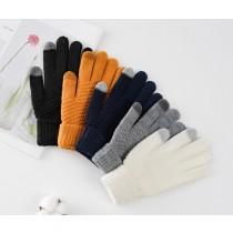 ins可愛加厚毛線針織觸屏(滑手機)手套