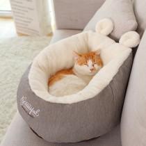 暖暖小兔耳深度貓狗睡眠窩(M號)