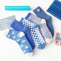 舒心藍海天系襪子(5雙一組)