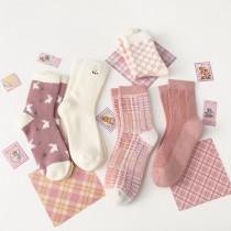 粉紅派對系襪子(5雙一組)