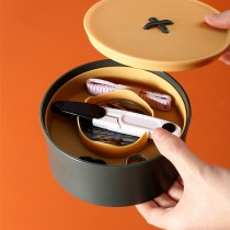 圓圓紐扣雙層針線收納盒