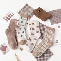 焦糖奶茶系襪子(5雙一組)